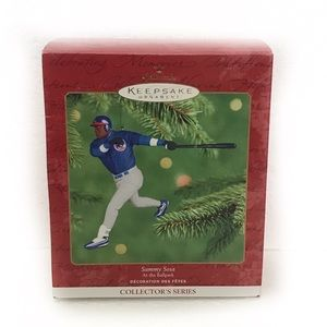 Hallmark MLB Sammy Sosa Baseball Ornament